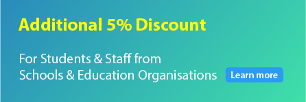 Additional 10% discount for students & staff from schools and education institutions