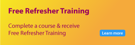 Unlimited free refresher training for every course you complete.