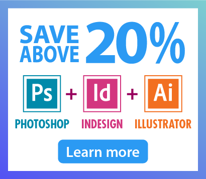 Graphic Design Essentials Bundle: Save more than 20% in Photoshop, Illustrator & InDesign Courses