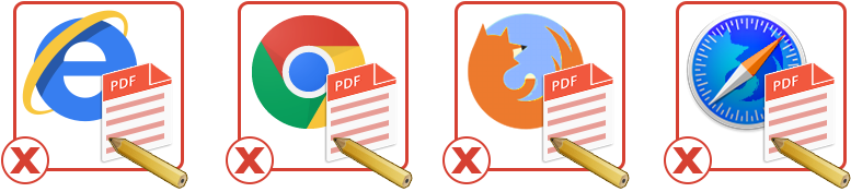 do not edit the pdf form in browser